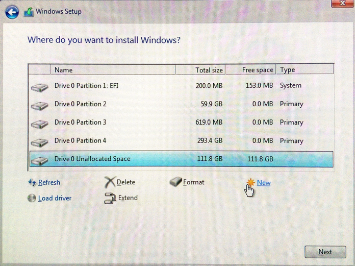 Installing windows 10 on a mac without bootcamp for Installing new windows